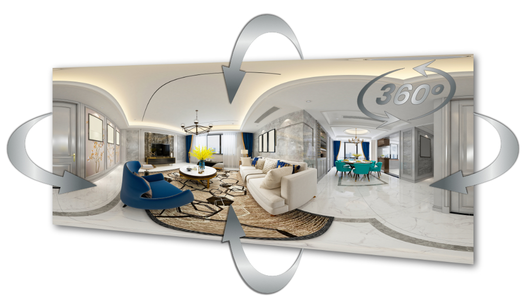Beispiel einer 360-Grad-Tour in einem Hotel