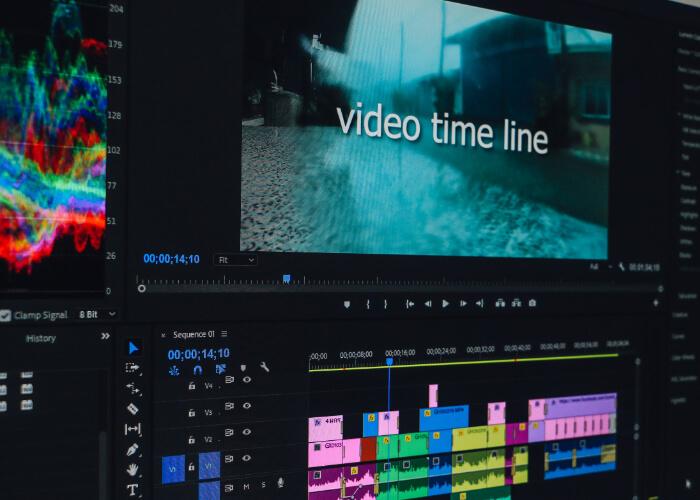 Bearbeitung von einem Imagefilm
