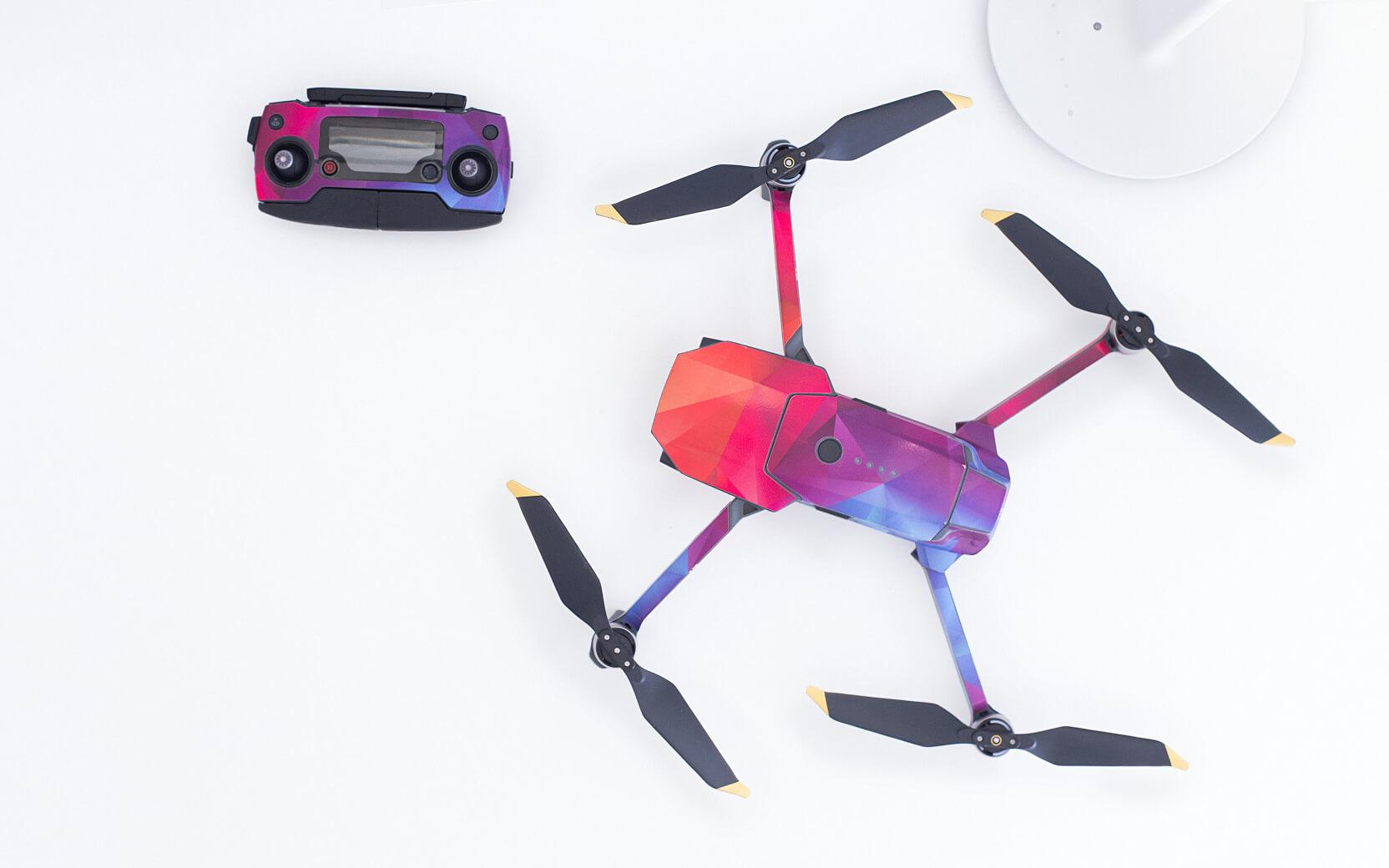 Produktfoto von einer Drohne von oben